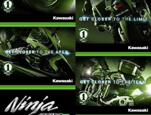 Kawasaki Europe: Bannerwerbung