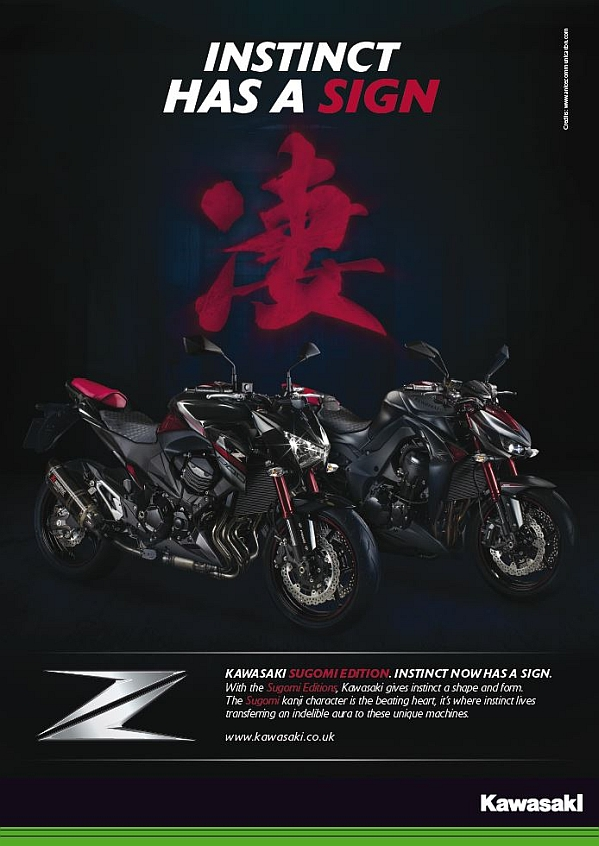 Anicecommunication help shape new Kawasaki Z800 and Z1000 Sugomi Editions