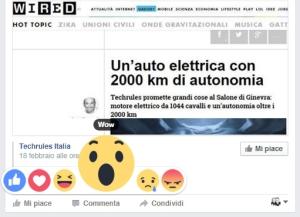 Facebook aggiunge emoticon per il like, dislike e non solo