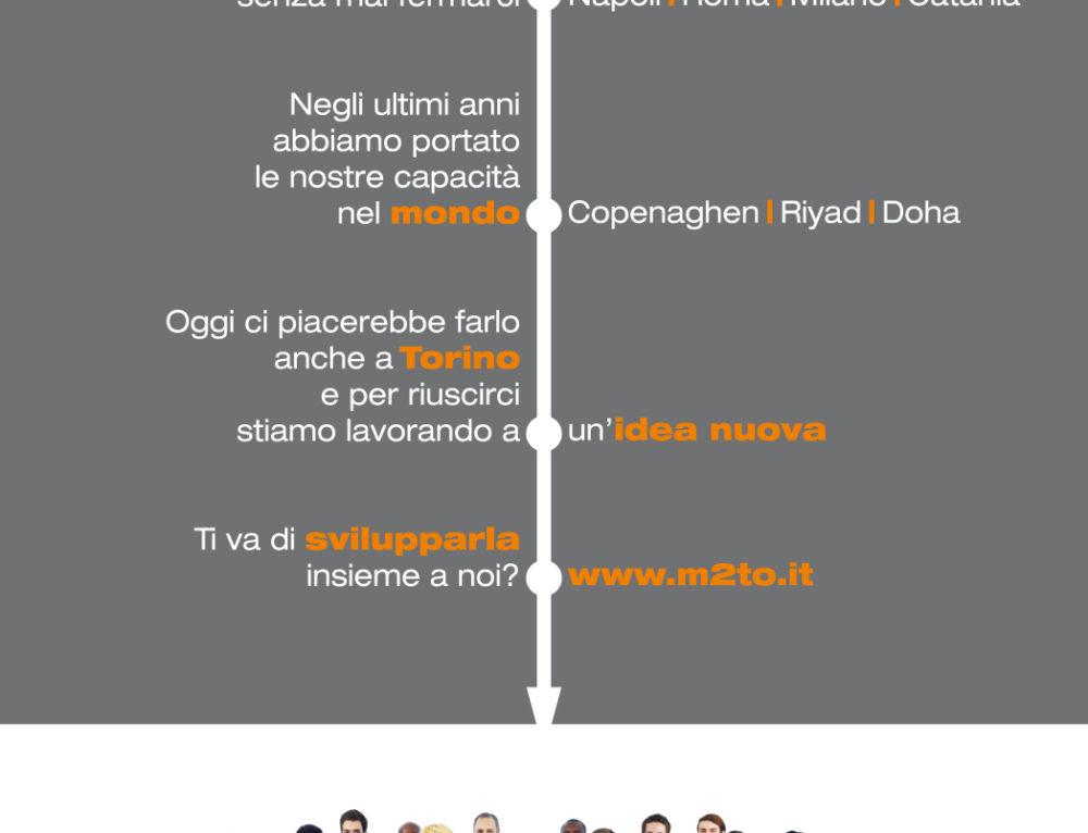Tecnosistem: logo e pagina pubblicitaria #M2TO