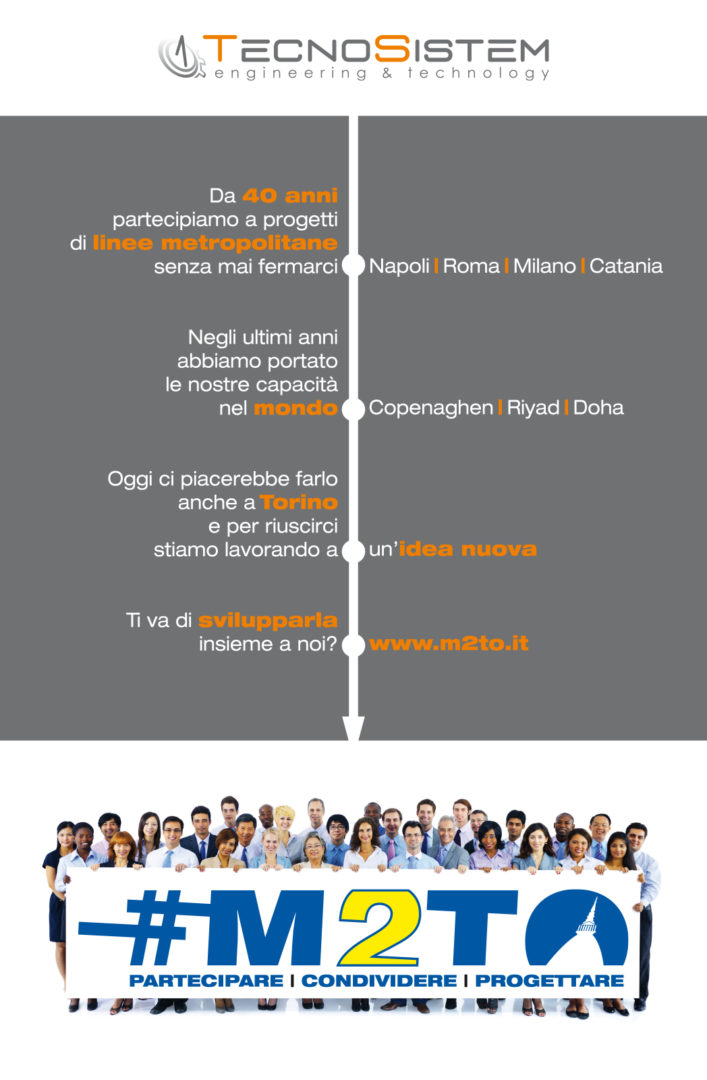 Realizzazione Pagina Pubblicitaria #M2TO su La Stampa e La Repubblica