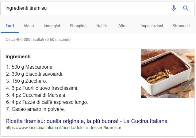 Cosa è un featured snippet