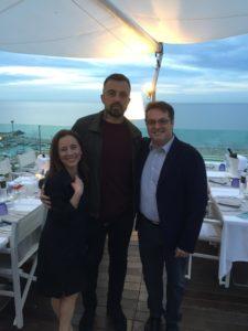 Chef Rubio con Patrizia Tontini e Roberto Beltramolli dell'agenzia Anice