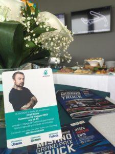 Card per autografi di Chef Rubio al Petronas Urania Grand Prix Truck di Misano 2019 by agenzia pr Anice