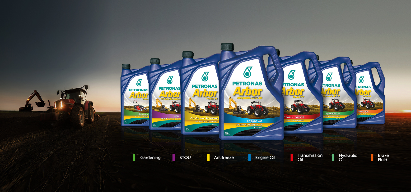 La gamma PETRONAS Arbor - la linea di lubrificanti per le macchine agricole e movimento terra