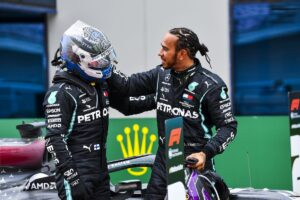 Bottas & Hamilton - 2020 Turkish Grand Prix, Sunday - LAT Images