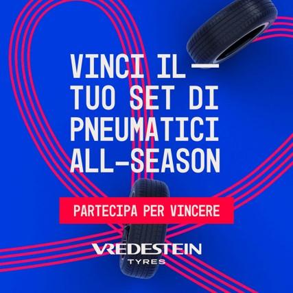 Clicca e Vinci il tuo set di pneumatici all-season Vredestein Quatrac