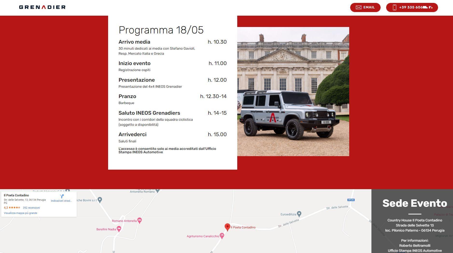 Form Adesione Online - INEOS Grenadier Perugia
